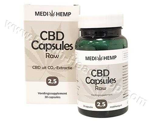 CBD Capsules Raw Hempseed Oil (Medihemp) 12,5mg 2,5%