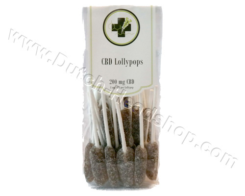 CBD Lollypops (Medi-Candy) 200mg CBD - bag 100gr